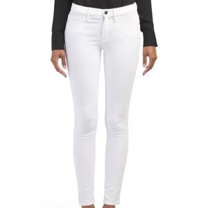 Theory White Skinny Jeans Dracie Conductor Denim